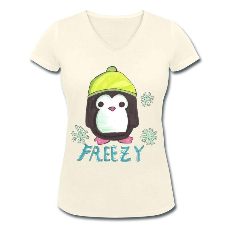 Penguin T-shirt #penguin #animal #cute #kawaii #clothing #shopping #elekairi https://www.spreadshirt.it/penguin-A200299758?department=3&productType=857&color=F4F2E2&appearance=545&view=1