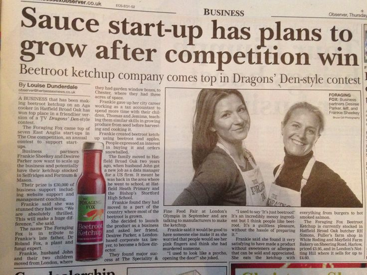 The Foraging Fox Beetroot Ketchup - we're in the news!
