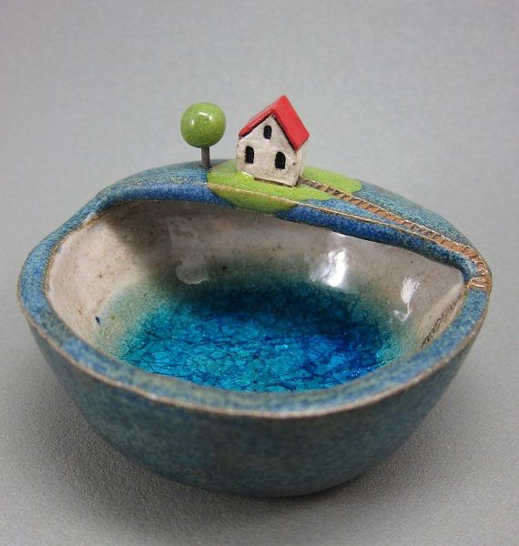 Private LakeKeepsake Bowl in Stoneware by elukka on Etsy, €35.00