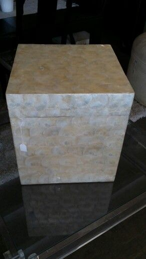 Large mother of pearl box at Jasper Kane