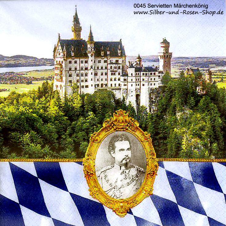 Papierservietten Märchenkönig Ludwig bayrisch