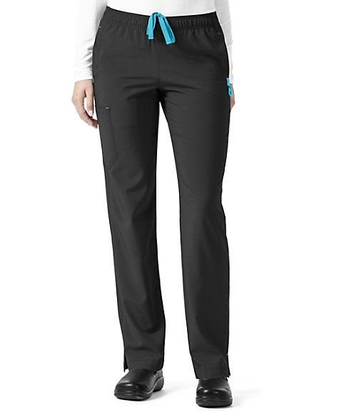 Experience all-day comfort throughout your busy shift with the Carhartt Cross-Flex Slim Leg Scrub Pants! These wonderful pants are designed with a full elastic waist, drawstring, and stretch fabric to ensure a great fit. Multiple pockets are available to easily carry your favorite instruments and accessories. Carhartt Cross-Flex Full Elastic Slim Leg Scrub Pants Full elastic waist with drawstring Two front pockets, two back pockets, inside front pocket, two cargo pockets, and a cell p...