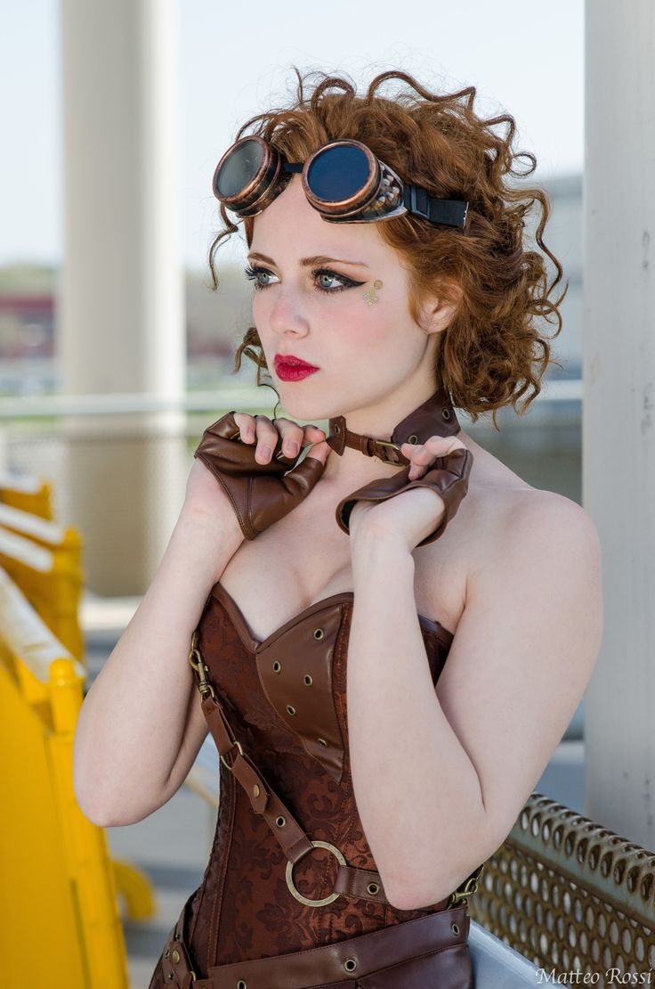 Steampunk Lady by MarcoFiorilli.deviantart.com on @DeviantArt. Redhead steampunk