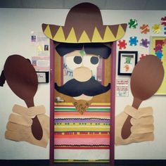 image of classroom door decorations for cinco de mayo - Google Search