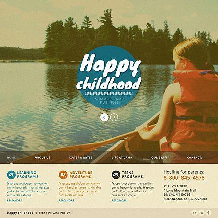 Happy Childhood Joomla Templates by Glenn