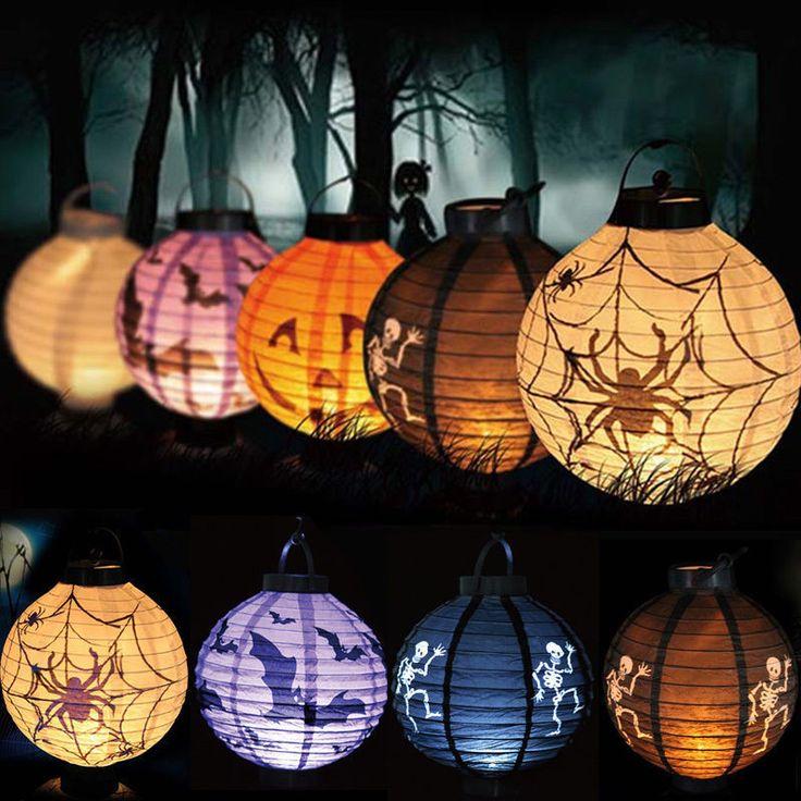 Pas cher EZLIFE 1 pcs Halloween Décoration LED Papier Citrouille Lumière…