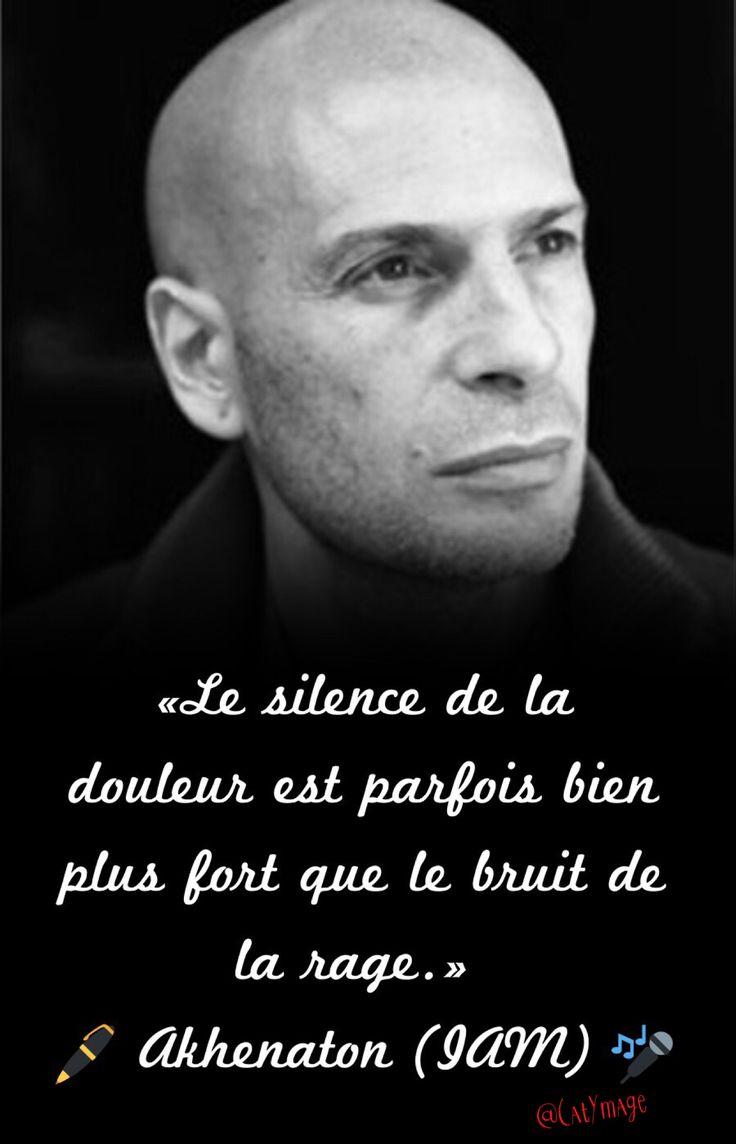 «Le silence de la douleur est parfois bien plus fort que le bruit de la rage.» Akhenaton (IAM)