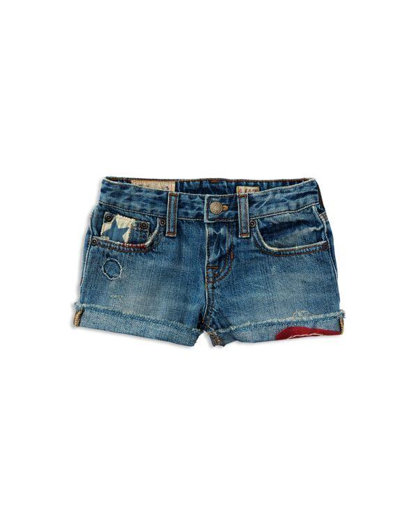 Ralph Lauren Childrenswear Girls' Distressed Denim Shorts - Sizes 2-6X