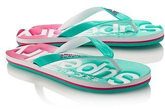 Womens sea green superdry faded flip flop from Lipsy - £15 at ClothingByColour.com