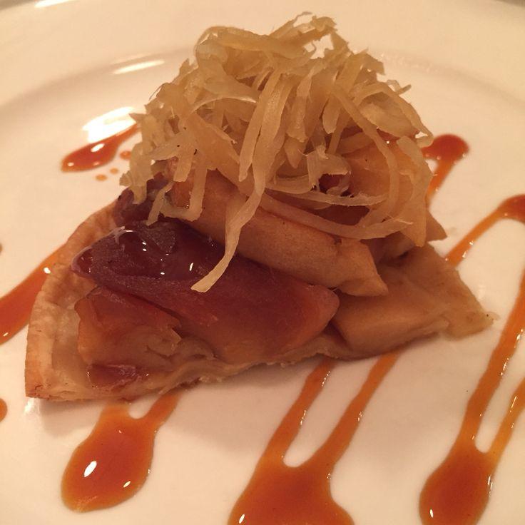Apple tarte tatin with caramelised ginger at L'Usine, Dong Khoi St
