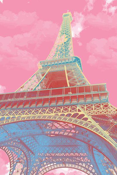 Eiffel Tower Pastel Art Print by Nessieness | Eiffel Tower