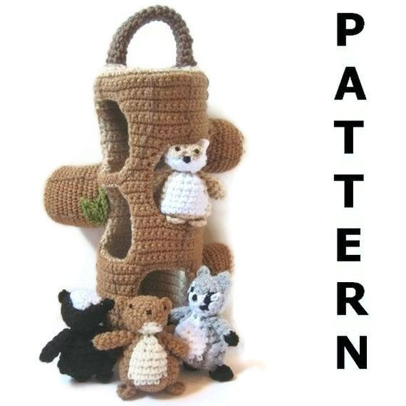 Woodland Creatures Crochet Pattern by CrochetNPlayDesigns on Etsy, $5.00