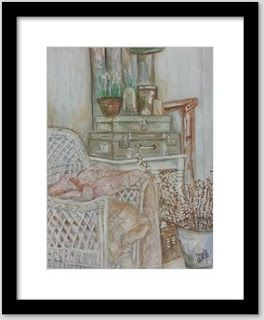 Sun Art Sales Blog: Framed Art prints, Still life with suitcases and c...