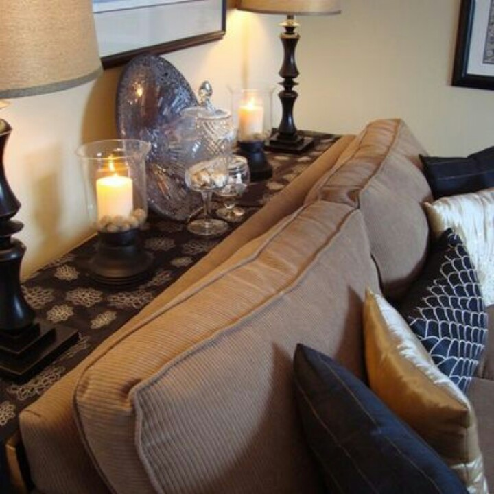 Thin table against sofa amp wall for the home pinterest