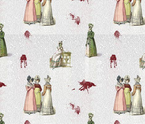 Pride and prejudice - zombies fabric