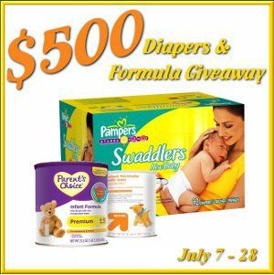 $ 500 Diapers and Formula #Giveaway Event! Enter to #win and best of luck Moms :)