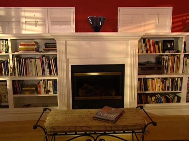 electric fireplace with bookshelves for basement For the