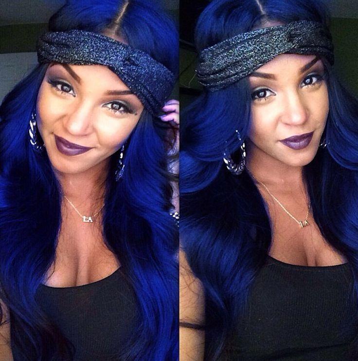 royal blue hair ideas