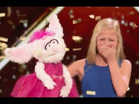 12 Y.O Ventriloquist Singer Gets MEL B GOLDEN BUZZER | Week 1 | America's Got Talent 2017 - YouTube
