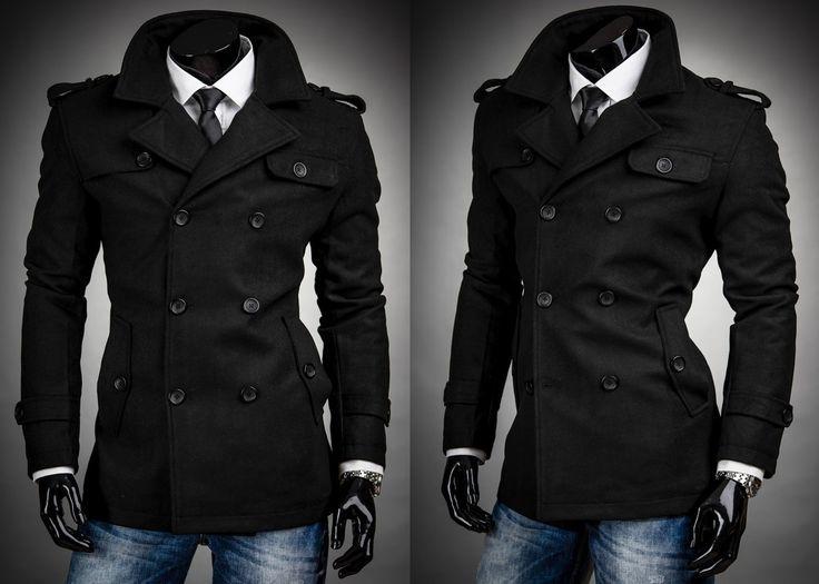 ZONES 216 - CZARNY | Odzież Dla Niego \ Płaszcze męskie \ Płaszcze ocieplane Kolekcja Męska | Denley - Odzieżowy Sklep internetowy | Odzież | Ubrania | Płaszcze | Kurtki