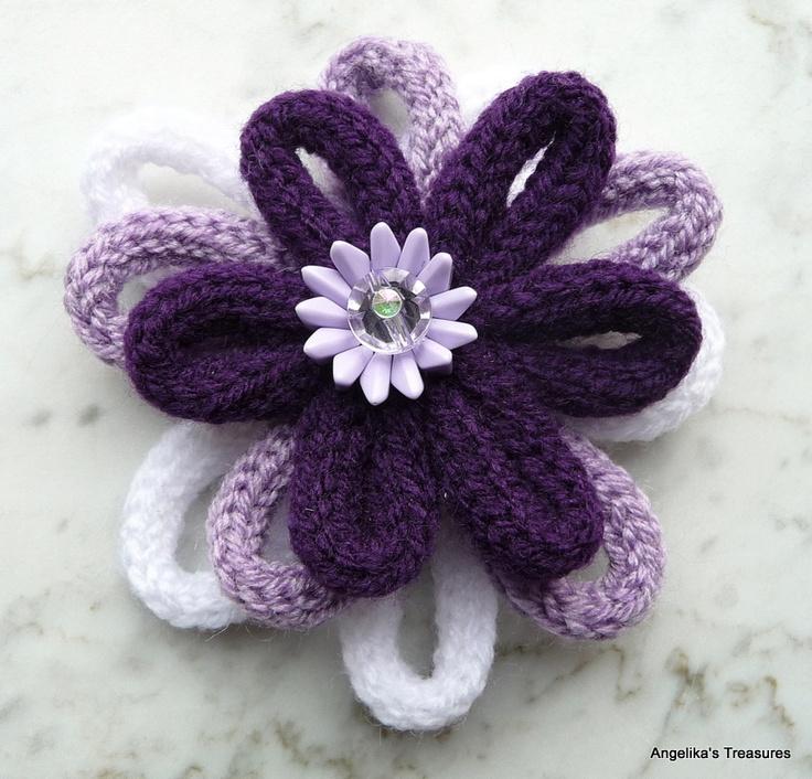 spool knitting flower