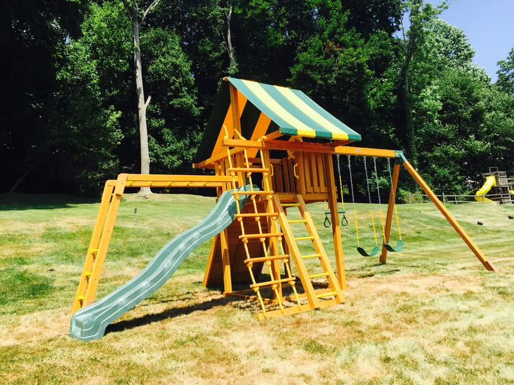 25 best Swing Set Installations images on Pinterest