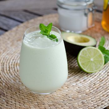 Paleo Key Lime Pie Smoothie - #glutenfree, #dairyfree and #eggfree, and decadent enough for dessert. Click for recipe --> http://cookeatpaleo.com/paleo-key-lime-pie-smoothie/