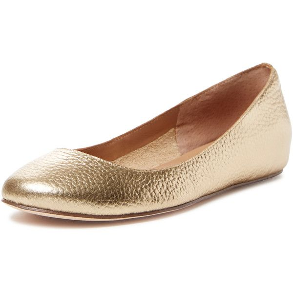 Elorie Women's Hadley Ballet Hidden Wedge - Gold, Size 9 ($79) ❤ liked on Polyvore featuring shoes, flats, gold, gold wedge shoes, gold ballerina flats, ballet flat shoes, gold flat shoes and flat shoes
