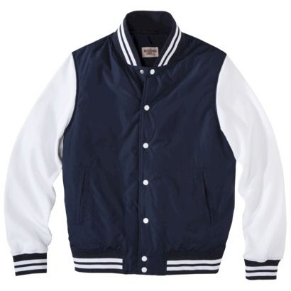 This hooded varsity jacket shows off your style with sleek lines, classic color combinations, and striped rib-trim cuffs and bottom hem. Made from a polyester/cotton sweatshirt fleece blend, this hooded jacket is soft, warm and easy to care for.