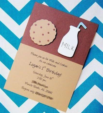 Invitaciones de cumpleaños inspiradas en el monstruo de las galletas