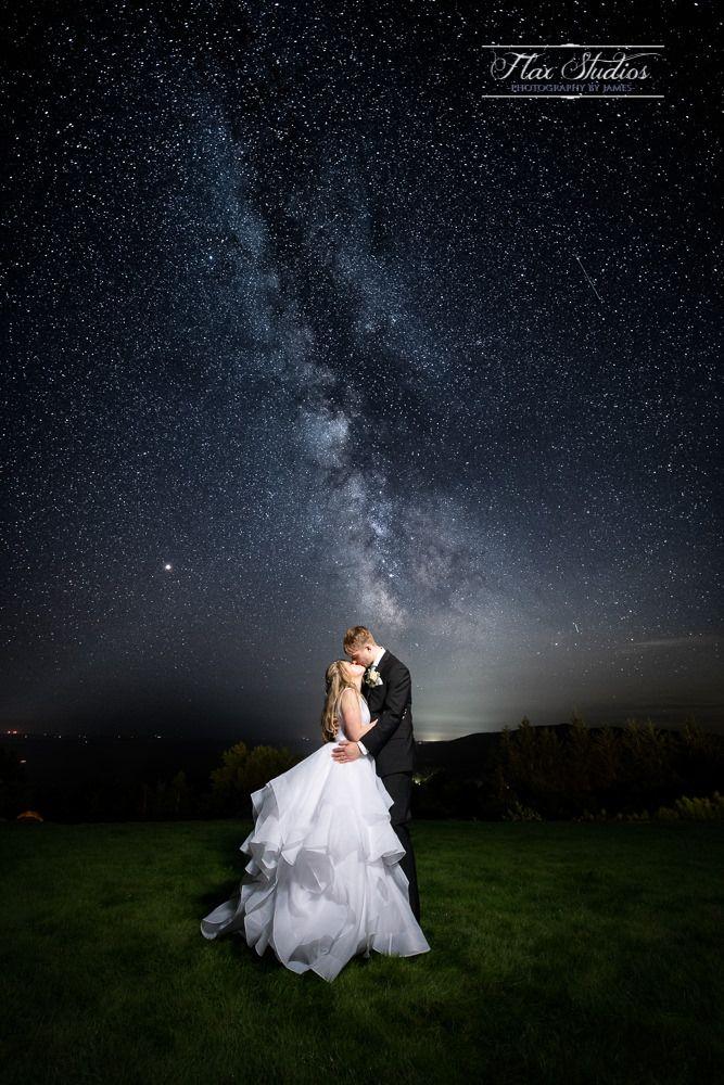Milky Way Wedding Pointlookout Nightskyphotography Mainewedding Nightphotography Starryweddin Night Wedding Photos Wedding Picture Poses Night Sky Wedding