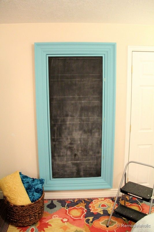 build a large wall frame for a chalkboard or mirror chalkboards large walls and frames. Black Bedroom Furniture Sets. Home Design Ideas