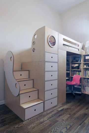 kids' room with lots of storage. I would have wanted this so bad! I still might...