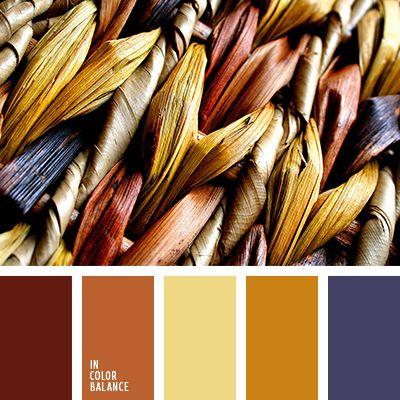 бордовый, желтый, коричневый, осенние оттенки, оттенки коричневого, пастельный синий, подбор цвета для осени, рыже-коричневый, синий, темно-оранжевый, теплые и холодные оттенки, теплый коричневый, цвета осени 2017.