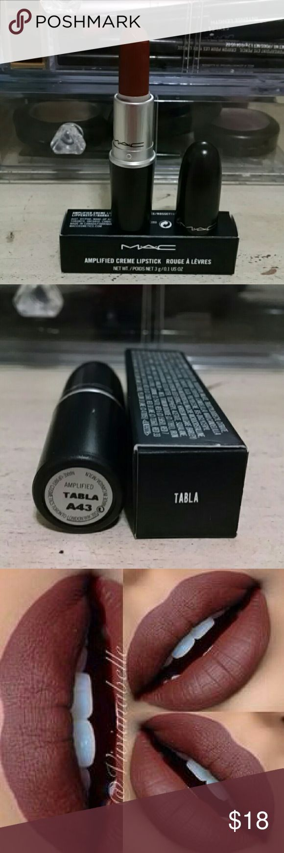 """Mac Amplified Lipstick """"Tabla"""" Beautiful fall lipstick color from Mac """"Tabla"""". Discontinued color. Looks great on every complexion. 100% AUTHENTIC 100% Brand New!!! Makeup Lipstick"""