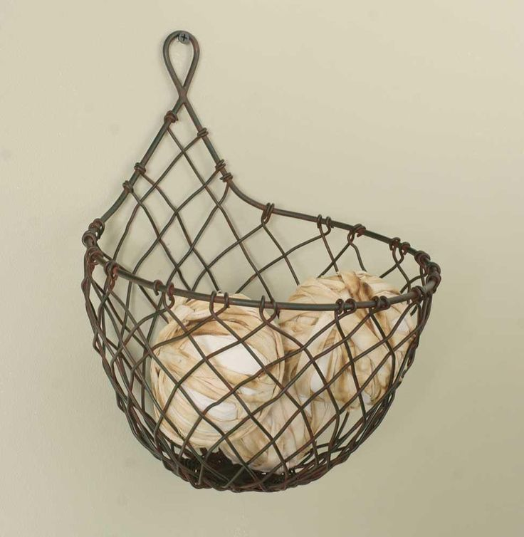 Wire Raindrop Wall Basket - In a minimalist kitchen, keep the fresh fruit or veggies for immediate use off the counter with a basket like this. Use wall space or under cabinet area