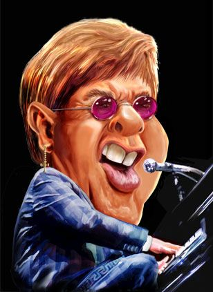 #Elton John ..FOLLOW THIS BOARD FOR GREAT CARICATURES OR ANY OF OUR OTHER CARICATURE BOARDS. WE HAVE A FEW SEPERATED BY THINGS LIKE ACTORS, MUSICIANS, POLITICS. SPORTS AND MORE...CHECK 'EM OUT!!