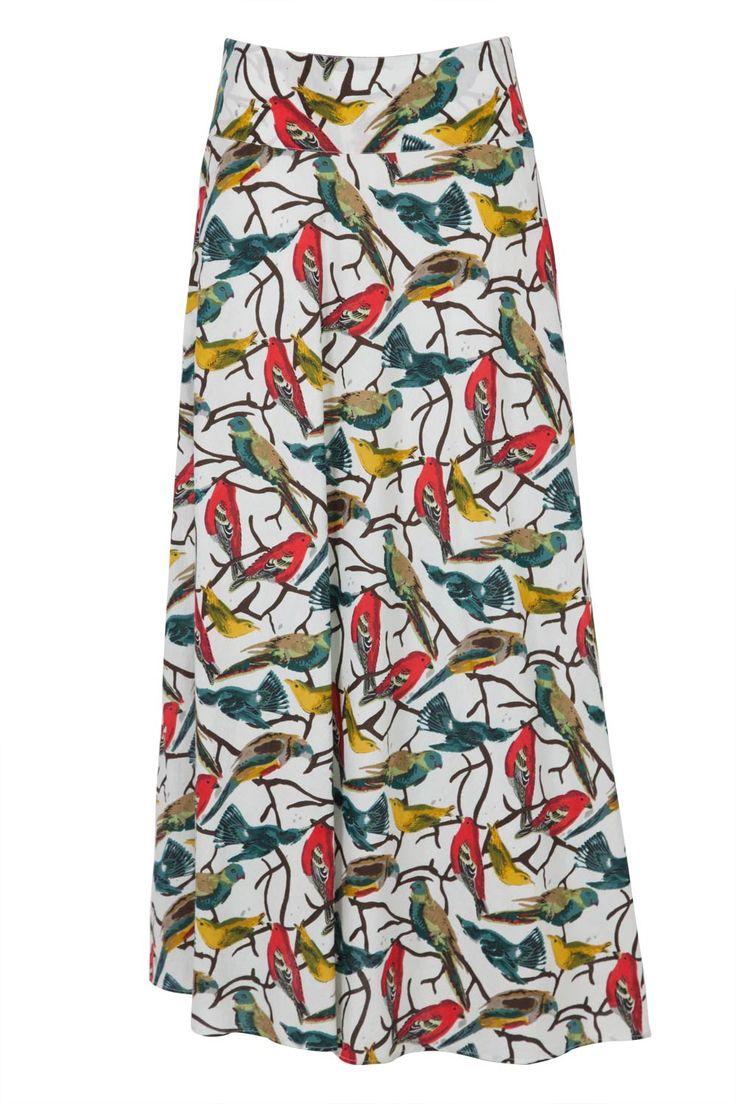 Bird Maxi Skirt