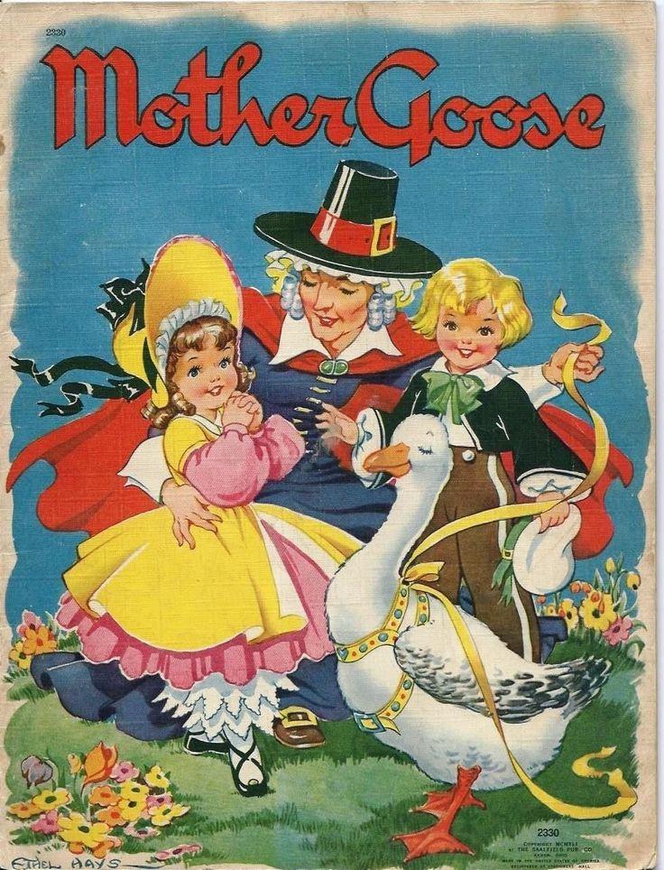 vintage saalfield mother goose book