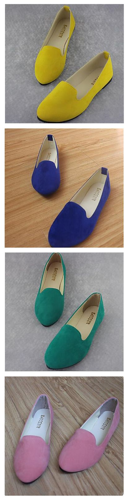 There is never too many shoes))) Get the color that matches your clothes or get a few of them - it's €9.67 anyways. Casual light women flats in green, orange, red, black, green, blue, yellow colors.