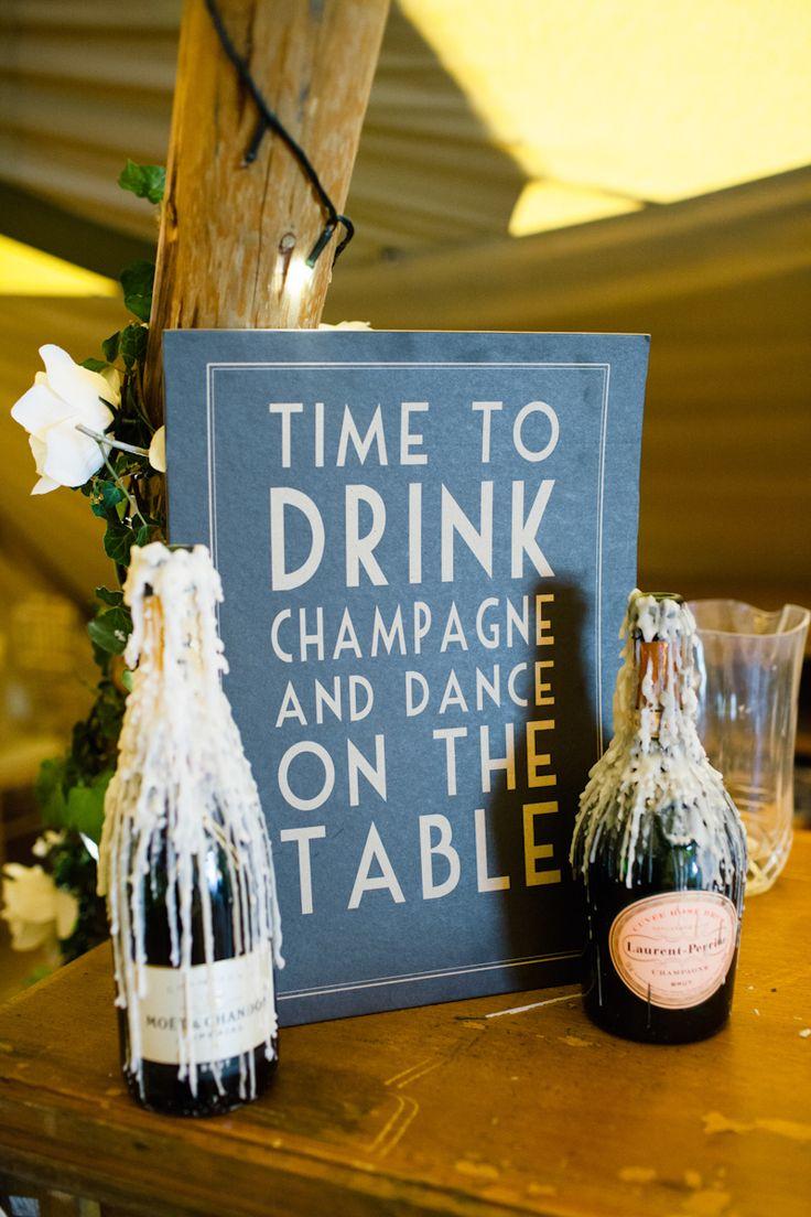 champagne bottles from hen do