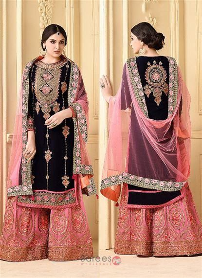 bfd3209c5c Designer Faux Georgette Heavy Embroidery Work Party Wear Pakistani Style Sharara  Suits 9257 #shopping #clothing #fashion #women