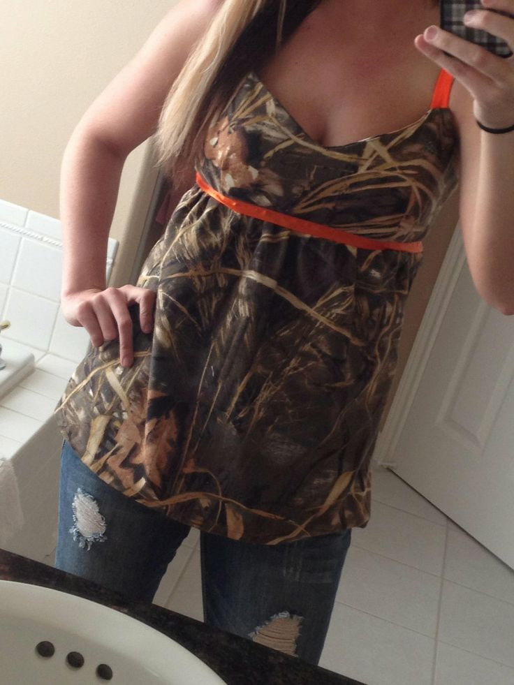 Max4 Babydoll Tank by DoeHideCountryWear on Etsy, $35.99 This will turn your Duck hunters head