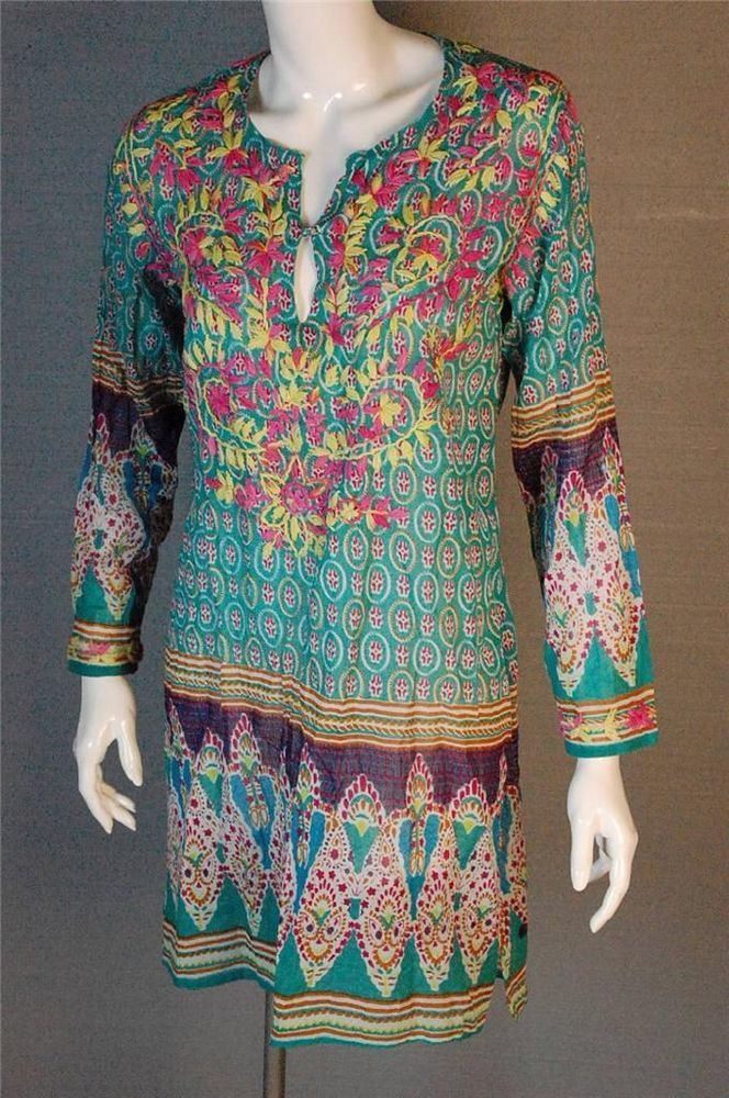 Tunic Top Embroidered 100 Cotton Raj Best Price 56 Free