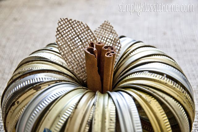 This canning jar ring pumpkin is an adorable fall craft that can be completed in under ten minutes. This is where you will find the original design. I knew I wanted to create some kind of pumpkin project, and when I saw my canning jar ring wreath that's been hanging on the back of the …
