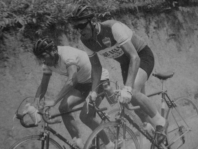 Vuelta a Colombia 1963. Javier el ñato Suarez y Martín Cochise Rodríguez