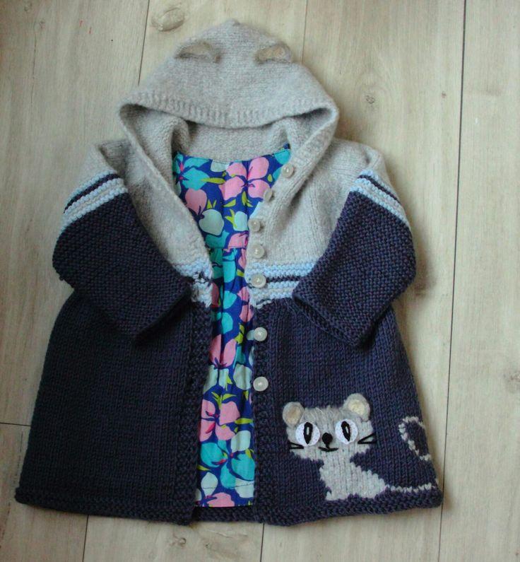 Пальто для девочки 1-1,5 года