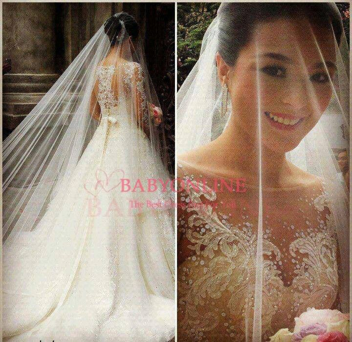 wedding dress 2014  vestido de noiva long sleeves sexy bridal gown see through ball gown princess bridal dress