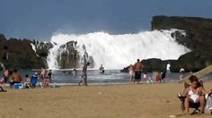 Natural Wave Pool At Punta Puerto Nuevo In Puerto Rico