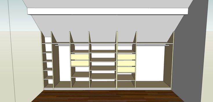 Fabriquer une armoire mur mur for Peindre une armoire en pin